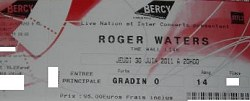 Roger Waters Paris 2011 ticket