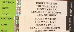 Roger Waters - Fenway Park 2012 ticket