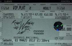 Roger Waters The Wall Live in Chile ticket