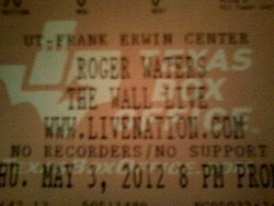 Roger Waters - Frank Erwin Center 2012 ticket