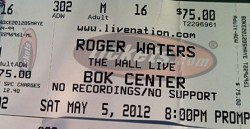 Roger Waters - The Wall ticket, BOK Center