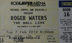 Roger Waters - The Wall Live 2012 ticket