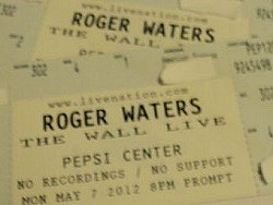 Roger Waters - The Wall ticket, Denver Pepsi Center