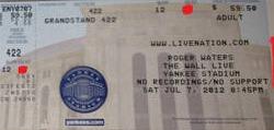 Roger Waters 2012 ticket