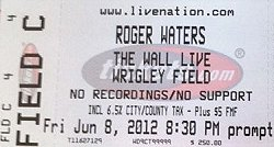 Roger Waters - Wrigley Field 2012 ticket