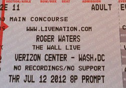 Roger Waters - The Wall Live in Washington DC ticket