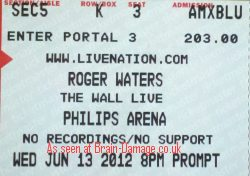Roger Waters - The Wall Live 2012 in Atlanta