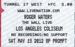 Roger Waters - Los Angeles 2012 ticket