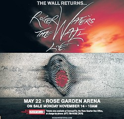 Roger Waters - The Wall Live concert advert