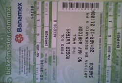 Roger Waters - The Wall ticket, Mexico City