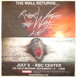 Roger Waters - The Wall Live 2012 concert poster