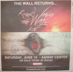 Roger Waters The Wall Live 2012 concert advert