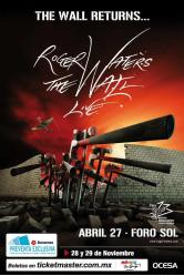 Roger Waters - Foro Sol concert poster