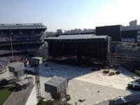 Roger Waters The Wall Live - arriving at New York's Yankee Stadium