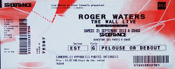 Roger Waters - Stade de France, Paris, 2013 ticket