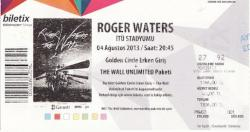 Roger Waters - Istanbul, Turkey 2013 ticket