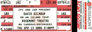 Rosemont Theatre Ticket