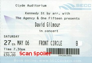 Clyde Auditorium ticket