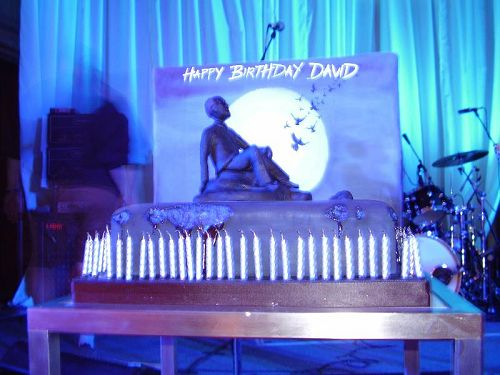 David Gilmour's 60th birthday cake