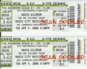 New York ticket