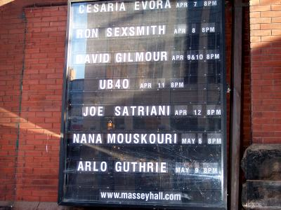 Massey Hall upcoming attractions