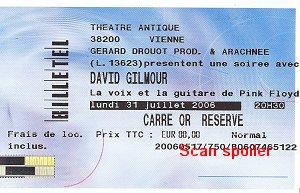 Théâtre Antique ticket