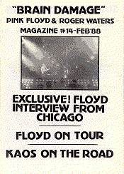 Brain Damage, International Pink Floyd Magazine, Issue 14