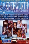 Knebworth DVD, including performances by Pink Floyd, Phil Collins, Elton John, Robert Plant, and more