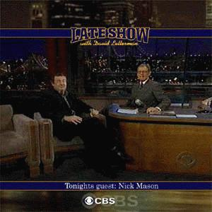 Nick Mason interview on David Letterman Late Show