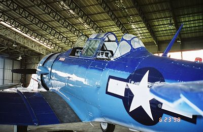 an amazing fighter plane, the SNJ7 Harvard