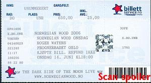 Ticket scan