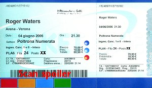 Ticket scan - Verona